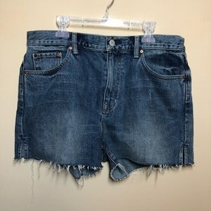 Gap hi rise cut offs denim frayed shorts